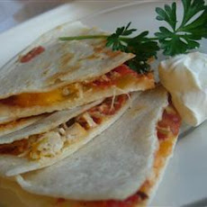 Cheesy Salsa Chicken Quesadillas