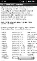 Screenshot of CPC - Code of Civil Procedure