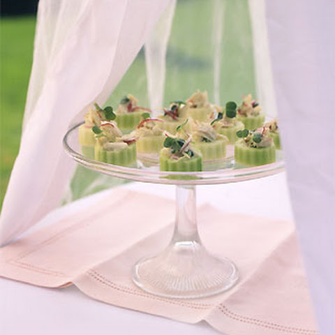 Wasabi Lime Crab Salad in Cucumber Cups