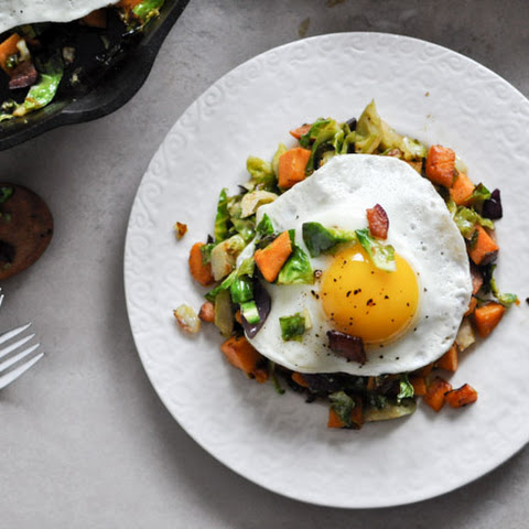 Brussels Sprouts Breakfast Hash