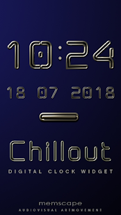 CHILLOUT Digital Clock Widget - screenshot