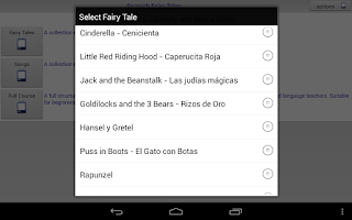 Screenshot of Spanish Fairy Tales and Songs