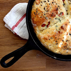 Roasted Red Pepper & Feta Skillet Scones