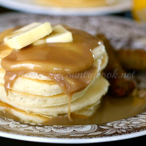 Buttermilk Pancakes with Maple Butter Sauce