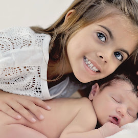 Big Sister, Little Brother by Debra Lubertazza - Babies & Children Child Portraits (  )