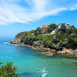 Gordons Bay Sydney by Corina Dodovski - Landscapes Beaches ( water, bay, cliff, australia, snorkeling, beach, diving, gordons bay, swimming, sydney, coas,  )