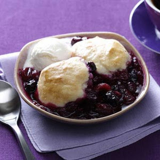 Healthy Triple Berry Cobbler