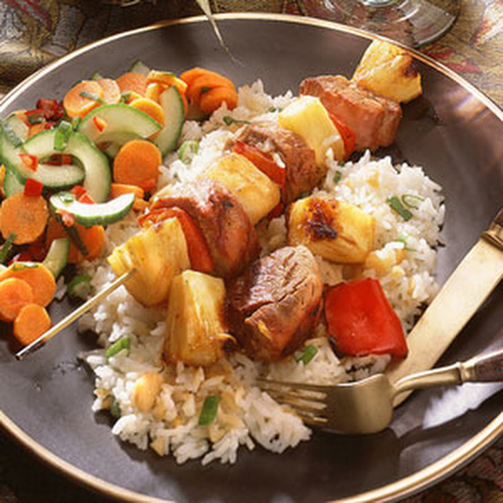 Pork-and-Pineapple Kebabs Recipe | Yummly