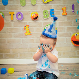 Cake Smash Candid ...STOP NO MORE PHOTOS!!! by Ann Milham - Babies & Children Children Candids