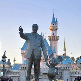 The Man and the Mouse by Sherry Judd - Buildings & Architecture Statues & Monuments ( mickey mouse, parks, 11th bday and ca, fun, disney )