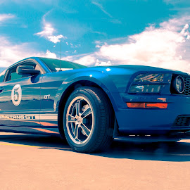 The Blue Stallion by Boyd Smith - Transportation Automobiles ( clouds, mustang, gt, ford )