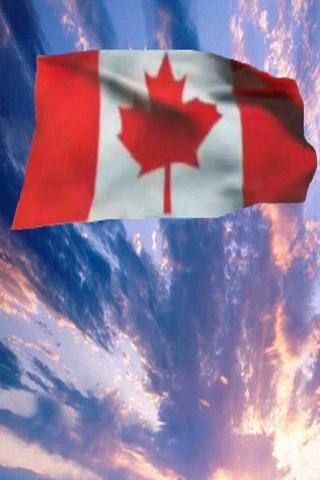Waving Canadian Flag