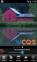Screenshot of WCQS - WNC Public Radio