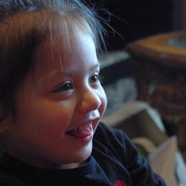 Laughing by Jason Gaston - Babies & Children Children Candids ( child, laughing, female, toddler, hispanic )