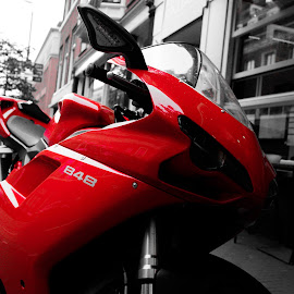 The Red Devil Returns by Ajay Prasad - Transportation Motorcycles