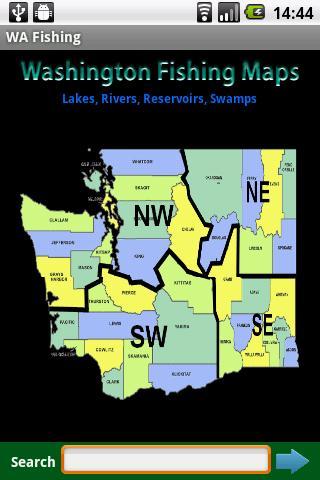 Washington Fishing Map - 13.5K