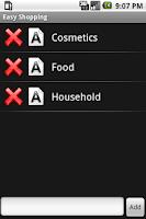 Screenshot of Easy Shopping