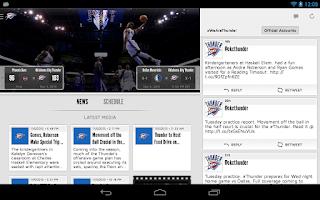 Screenshot of Oklahoma City Thunder