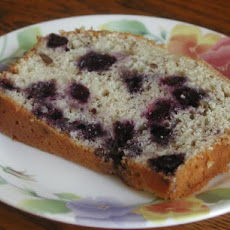 Blueberry Bread With White Chocolate Icing