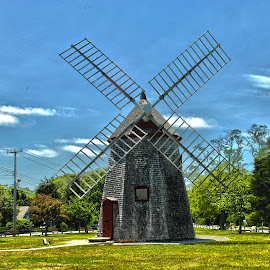 Windmill by Sara Whitney - Buildings & Architecture Other Exteriors ( park, hdr, energy, capecod, windmill )