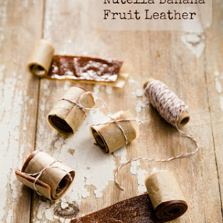 Two Ingredient Nutella Banana Fruit Leather