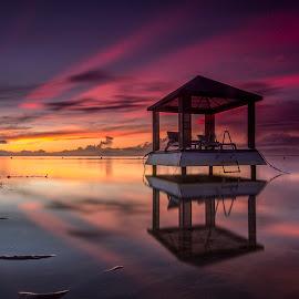 The Floating Gazebo by Ade Irgha - Landscapes Travel ( explore bali, sanur, beach, sunrise, gazebo )