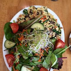 Tofu scramble with side salad