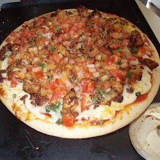 Saucy Beef Taco Pizza