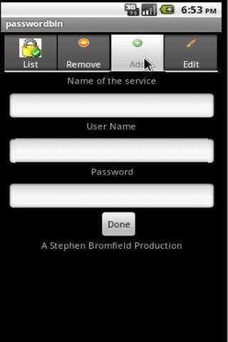 Password Bin