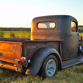 Warmth of the Morning Sun by Kevin Dietze - Transportation Automobiles ( home built, street rod, rat rod, sunrise, hot rod )