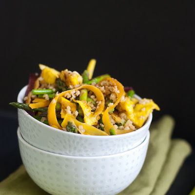Vegetarian Stir-Fried Millet