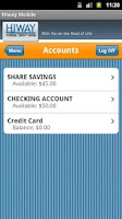 Screenshot of Hiway Federal Credit Union
