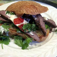 Bbq (or Broiled) Flank Steak Sandwiches