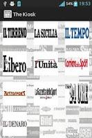 Screenshot of Italian newspapers