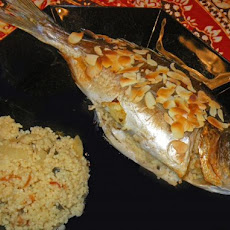Trout Stuffed With Couscous, Almonds and Herbs