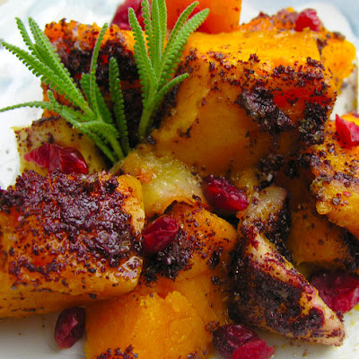 Annaliese's Roasted Butternut Squash With Cranberry And Pear Accents