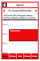 Screenshot of BANGALORE PRESS e-Calendar