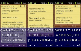 Screenshot of Transparent Keyboard Phone