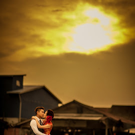 Love Like No Tomorrow by Mike Tan - Wedding Bride & Groom ( mike tan, kiss, wedding, photographer, malaysia )