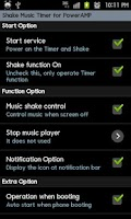 Screenshot of PowerAMP ShakeMusicTimer Trial