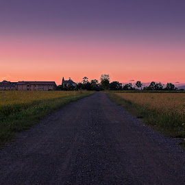 Purple Hour by Luca Guido - Landscapes Prairies, Meadows & Fields ( sunset, italy )