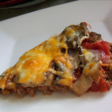 No Dough Meat Crust Pizza for the Low Carb Dieter