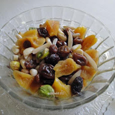 Khoshaf -- Dried Fruit and Nut Compote (Iran -- Middle East)