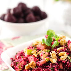 Quinoa Salad with Goat Cheese, Beets & Walnuts