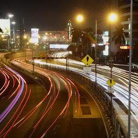Light Trail by Brian Biian - City,  Street & Park  Night