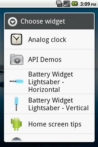 Battery Widget Lightsaber Full