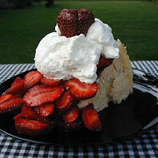 Strawberry Topped Angel Food Cake