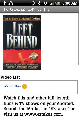 The Original Left Behind Movie