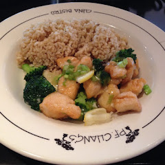Lunch Menu: GF Philip's Better Lemon Chicken With Brown Rice (or White Rice). Comes with Egg Drop So