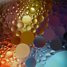 Wonderful Colorful by Janet Herman - Abstract Macro ( water, abstract, macro, colorful, ellipses, bubbles, spheres, oil )